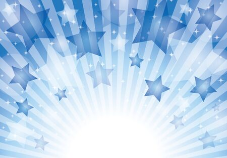 Blue star pattern background material glitter