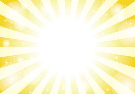 yellow radial background light vector 向量圖像