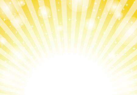yellow radial background light vector  イラスト・ベクター素材