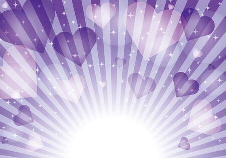 purple heart pattern background material glitter