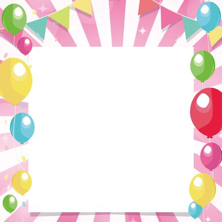 Pink radial background balloons and text space 版權商用圖片 - 149160466