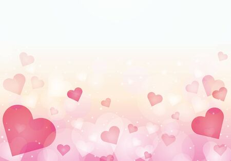 Pink heart pattern background material glitter
