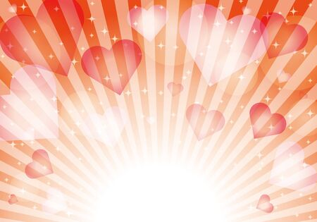 Red heart pattern background material glitter