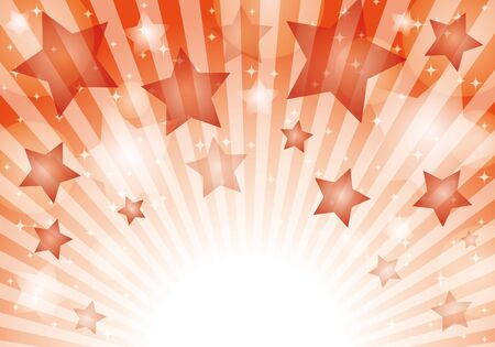 Red star pattern background material glitter