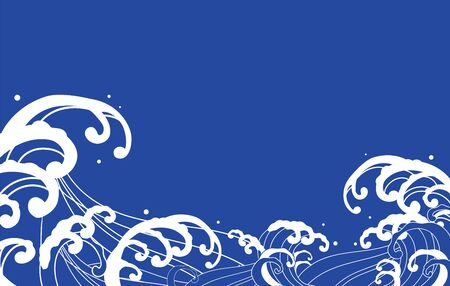 Large wave blue illustration vector 版權商用圖片 - 149160820