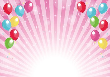 Pink radial background balloons and glitter background 版權商用圖片 - 149161173