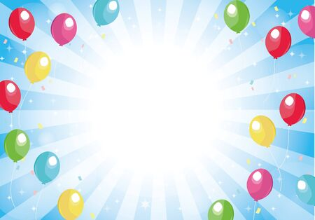 Blue radial background balloons and glitter background 版權商用圖片 - 149160088