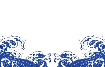 Large wave blue illustration vector 向量圖像