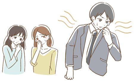 Body odor male vector illustration 向量圖像