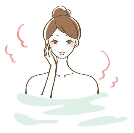 Bathing bathing woman vector illustration 版權商用圖片 - 151288130