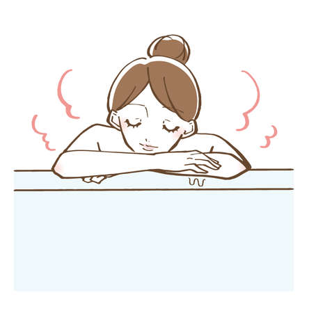 Bathing bathing woman vector illustration 版權商用圖片 - 151288135