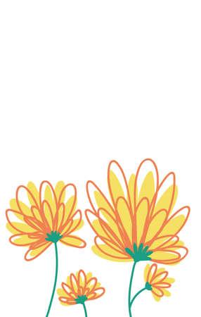 Aflower Yellow Vector Illustration