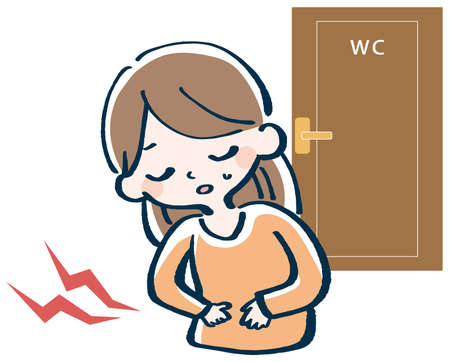 Woman suffering from stomachache illustration 向量圖像