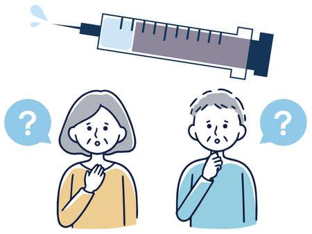 Vaccination, vaccination, elderly men and women worried