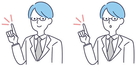 Doctor medical pointing male illustration