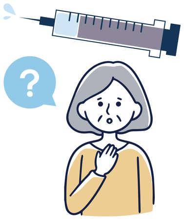 Vaccination vaccination elderly women worried