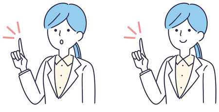 Doctor medical pointing woman illustration
