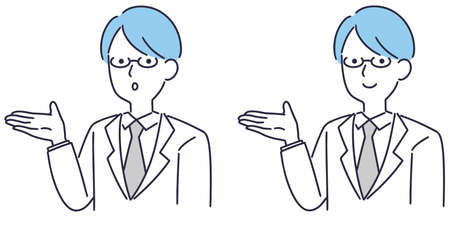 Doctor medical information vector illustration
