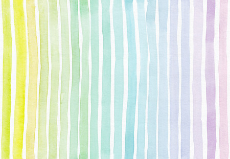 imperfect: Horizontal seamless background with handdrawn ink with hand drawn stripe gradient texture, imperfect, grainy, bright, on white watercolor paper in pastel colors, illustration for your presentation or design Stock Photo