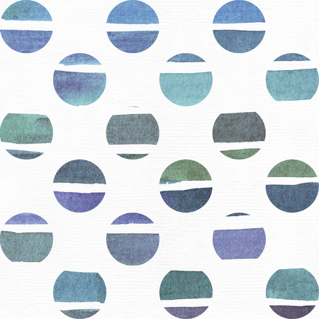 imperfections: Blue and purple illustration, cool and branding freehand texture based on watercolor gradient stripes in little circles and white watercolor background. Large, grainy, bright, with imperfections for your presentation