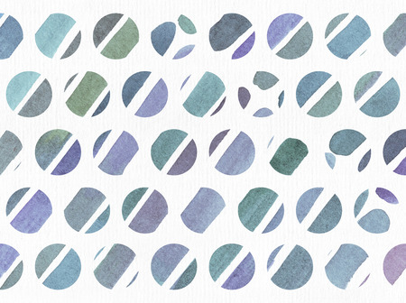 imperfections: Blue and purple illustration, cool and branding freehand texture based on watercolor gradient stripes in small circles and white watercolor paper on background. Large, grainy image with imperfections for your design