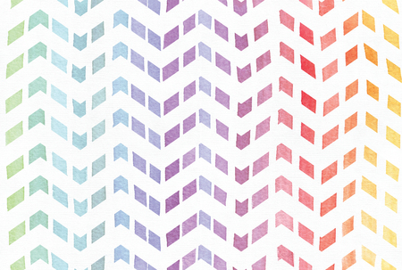 imperfect: Gradient splattered rainbow background in zigzag pattern, hand drawn with watercolor ink. Seamless painted pattern, good for decoration. Imperfect illustration. Pastel bright colors