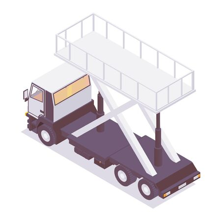 Isometric catering machine for aircraft, backside view.