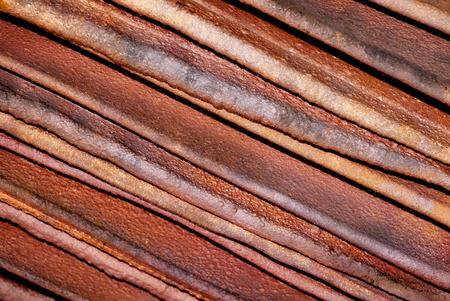 積層銅カソード、対角線のクローズ アップ