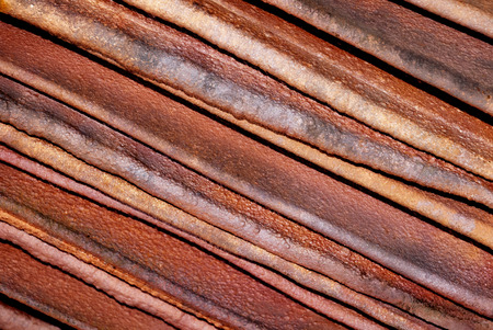 Closeup  of Stacked Copper Cathodes, Diagonal