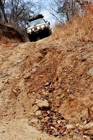 Off-Road Driving in Rural, Mountainous Areas of Zambia, Africa