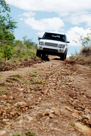 mountainous: Off-Road Driving in Rural, Mountainous Areas of Zambia, Africa