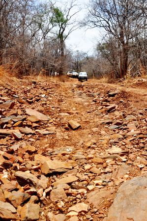 Off-Road Driving in Rural, Mountainous Areas of Zambia, Africa photo