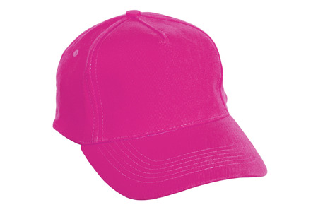Pink Sports Cap Isolated on White Background photo