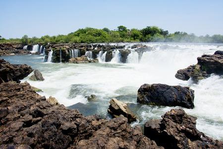 Sioma Falls in the Zambezi River, Zambia, Africa