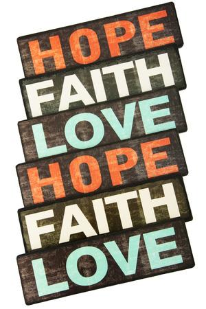 geloof hoop liefde: Geloof, Hoop van de Liefde, die op Witte Achtergrond