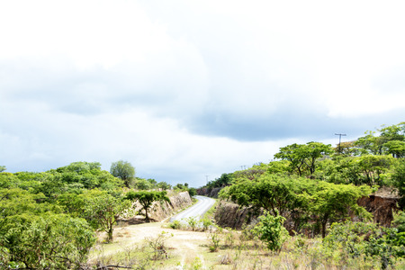 Mountain Pass in Stormy Weather, Malawi, Central Africa photo