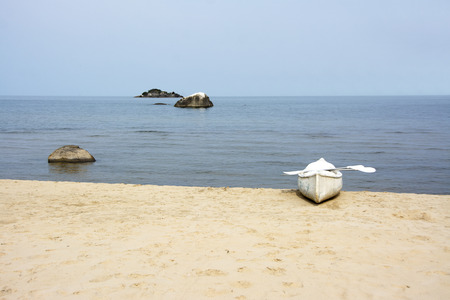 Back From Rowing to the Nearest Island, Lake Malawi, Malawi, Africa