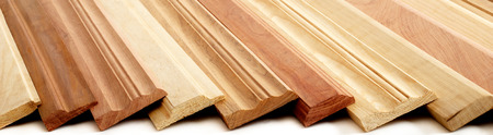 skirting: Combination of Wooden Skirting boards over white