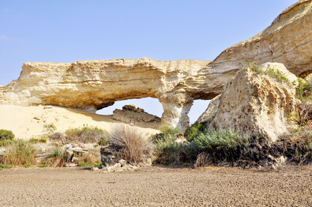 Beautiful Stoned Sand Formations at a Dry Lake Arco in Angola, Southern Africa