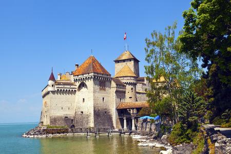 chillon: Chillon Castle on a bright summers Day Editorial