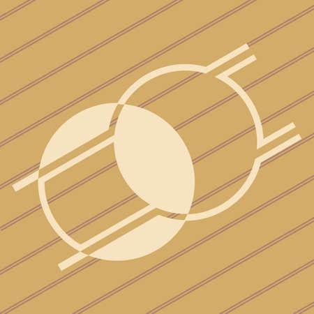 ufo crop circles design in wheat/corn fields Stock Vector - 9845815