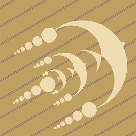 UFO crop circles progettazione in campi di granomais Vettoriali