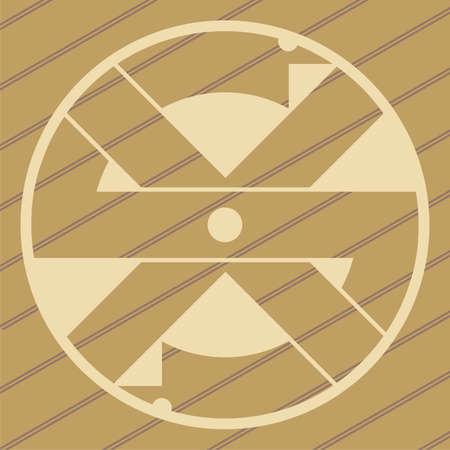 ufo crop circles design in wheatcorn fields Vector