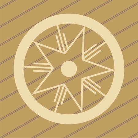 ufo di progettazione crop circles nel grano  mais campi