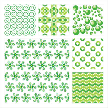 Collection Of Six Seamless Pattern.Background texture Stock Vector - 10309512