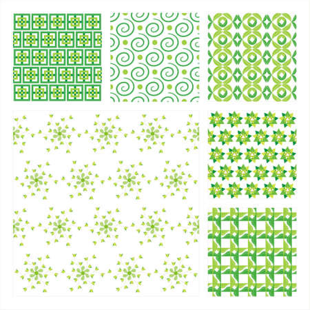 Collection Of Six Seamless Pattern.Background texture Stock Vector - 10309511
