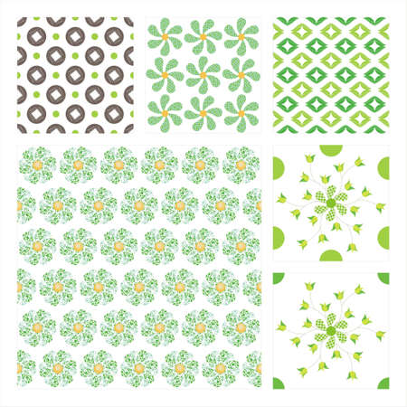 Collection Of Six Seamless Pattern.Background texture Stock Vector - 10309515