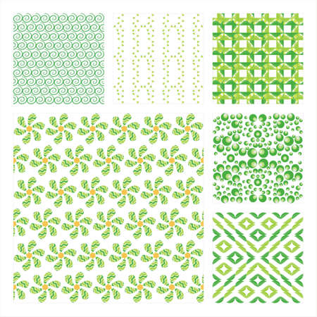 Collection Of Six Seamless Pattern.Background texture Stock Vector - 10309514