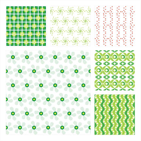 Collection Of Six Seamless Pattern.Background texture