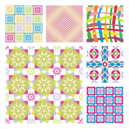 Collection Of Six Seamless Pattern.Background texture Stock Vector - 10309510